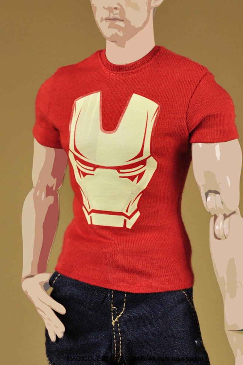 48b9425038 1 6 escala Iron Man ropa de moda Set modelos accesorios para 12 pulgadas  figuras béisbol chaqueta y pantalones vaqueros pantalones y camiseta camisa  y cuero ...