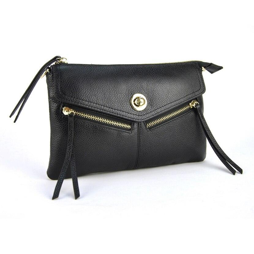 ФОТО Genuine Leather Women Day Clutch Bags Cowhide Envelope Small Shoulder Handbag Organizer Purse Eevening Party Ladies Wristlet
