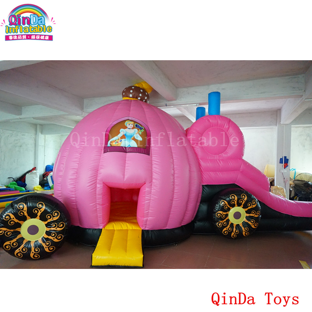 7*4*3m inflatable princess bouncy house,Halloween party toys Inflatable princess carriage bounce castle giant inflatable games commercial bounce houses 4 4m 3 3m 2 6m bouncy castle inflatable water slides for sale toys