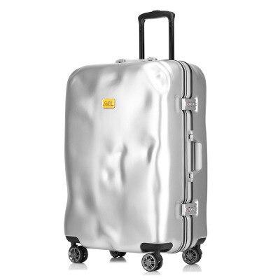 2019 Mode Roll Gepäck Spinner Aluminium Rahmen Reisetasche Frauen Vintage Trolley 20'24; 28 Zoll Männer Tragen Auf Koffer Rad