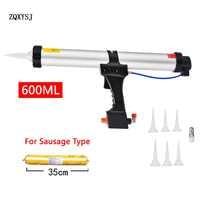 ZQXYSJ Caulking Gun 600ML Air Pneumatic Work Sealant Gun For Valve Adjustment Tool Decoration Sausage Silicone Finishing Tools