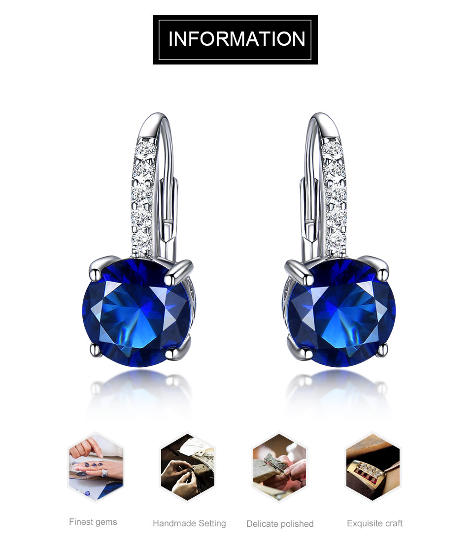 blue sapphire clip earrings for women  (1)