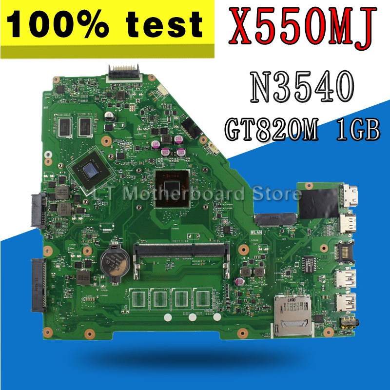 N3540 CPU X550MJ GT820M 2GB mainboard X550MD REV 2.0 for ASUS X550M X552M Y582M X550MD X550MJ Motherboard 100% test OkN3540 CPU X550MJ GT820M 2GB mainboard X550MD REV 2.0 for ASUS X550M X552M Y582M X550MD X550MJ Motherboard 100% test Ok