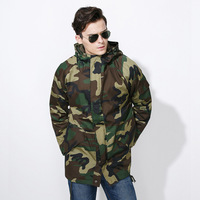 Camouflage Jacket Men High Quality Military Style Man Coats Hooded Army Fleece Tactical Outwear Mens Brand