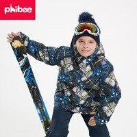 Boys Ski Sets Winter Waterproof Windproof Kids Ski Jacket Children Outdoor Warm Hooded Snowboard Sports Suits