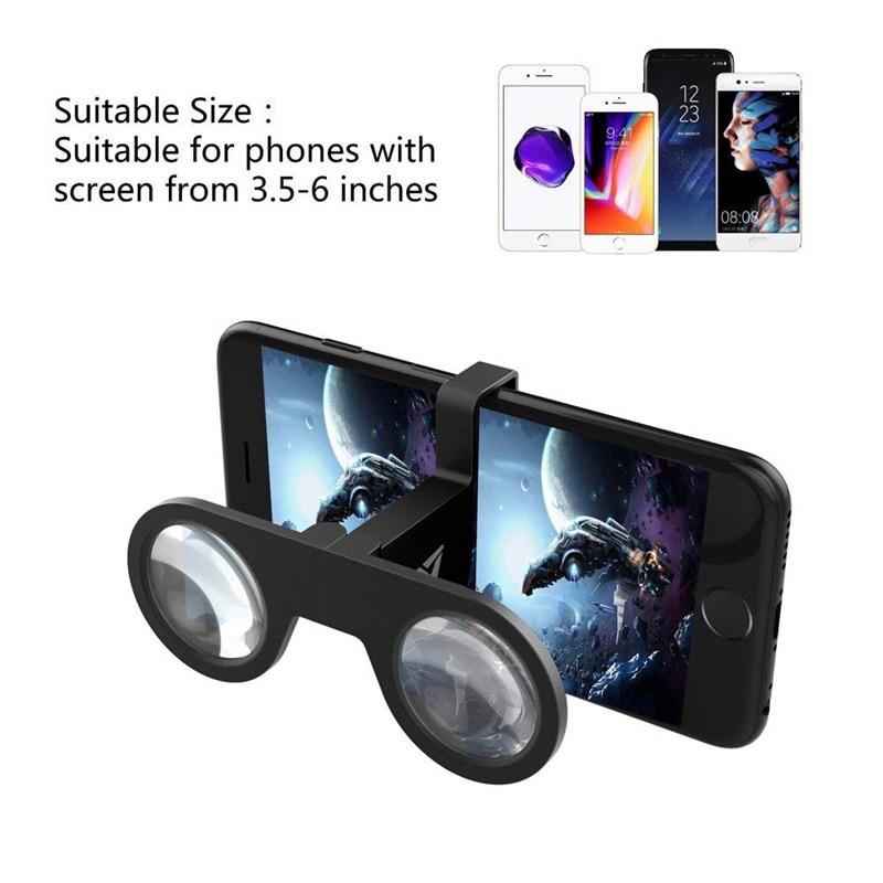 d3f13c51d7 Mini plegable 3D Realidad Virtual de realidad Virtual gafas VR para Samsung  Galaxy S8 S9 Plus IPhone X 7 8 6 6 S lente de Cristal 3 D películas de  teléfono ...
