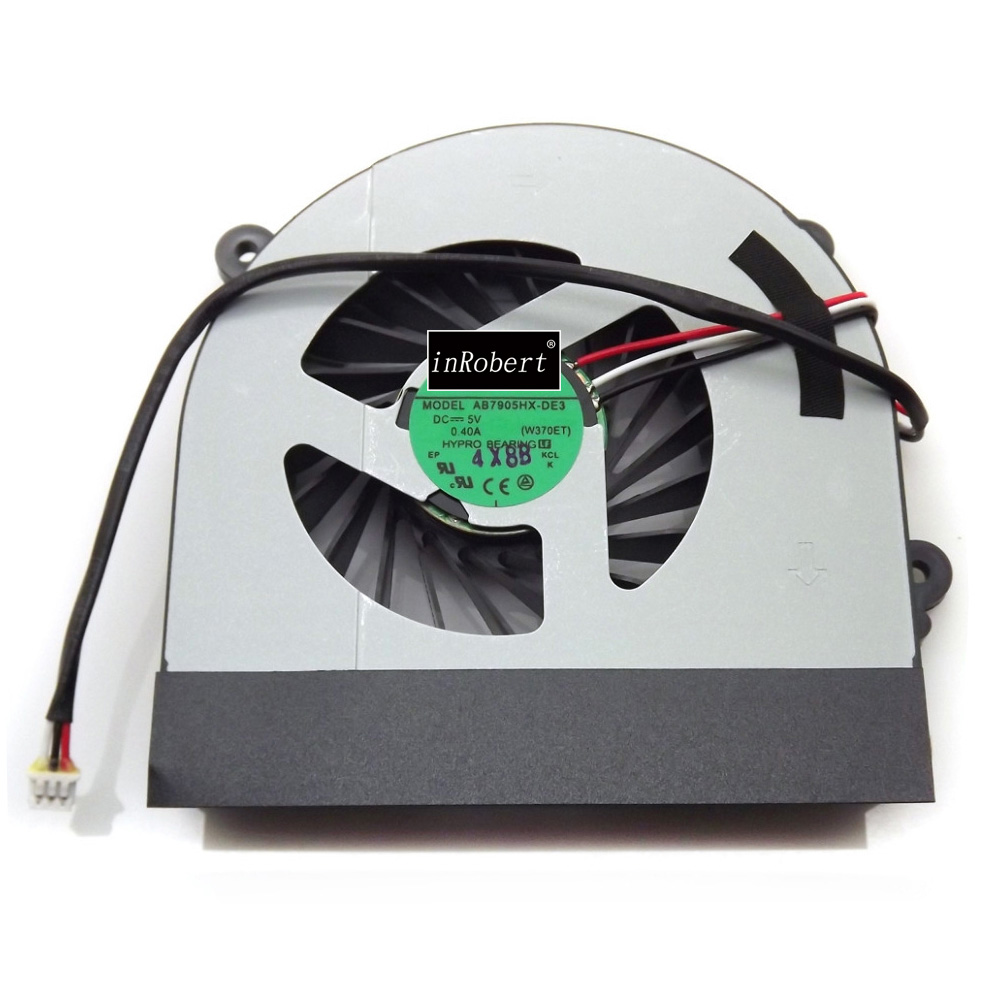 Cooler Fan For Clevo W150 W150er W350 W350ETQ W370 W370ETQ AB7905HX-DE3 6-31-W370S-101 6-23-AW15E-011 Laptop CPU Cooling Fan 4 in 1 multifunction charging dock station cooling fan external cooler dual charger for xbox one controllers s game console