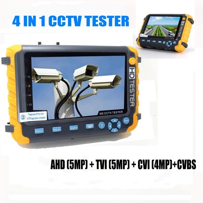 WangLu Профессионального видеонаблюдения Tetser IV8W 5 дюймов TFT ЖК-дисплей 5MP AHD TVI 4MP CVI аналоговый CVBS безопасности Камера тестер VGA HDMI Вход PTZ UTP