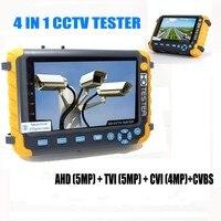 Profissional CCTV Tester IV8W 5 Polegada TFT LCD 5MP 4MP CVI TVI AHD Analógico Câmera de Segurança Testador VGA CVBS HDMI entrada PTZ UTP