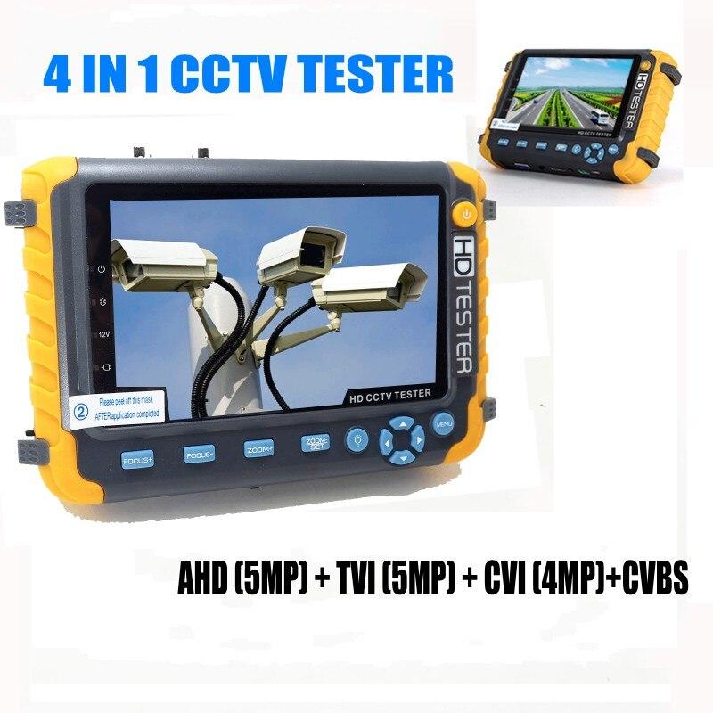 WangLu Professional CCTV Tester IV8W 5Inch TFT LCD 5MP AHD TVI 4MP CVI Analog CVBS Security Camera Tester VGA HDMI Input PTZ UTP