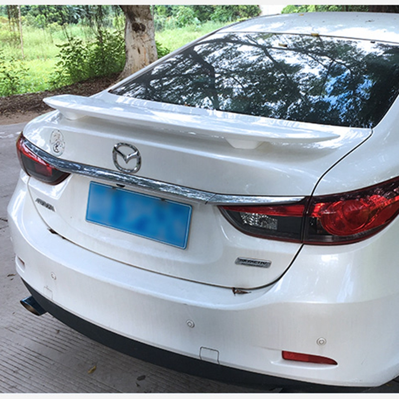 For Mazda 6 ABS Primer Car Rear Lip Spoiler Wing for Mazda 6 Atenza 2015 2016 2017 2018 use for mazda 6 4doors sedan spoiler 2006 2013 mazda 6 spoiler high quality abs material car rear wing primer color for mazda 6
