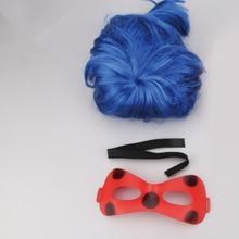 Чудесное леди комиксов Леди Хэллоуин ошибки Детские вечерние игрушка красный маска Высокое Температура волосы парик Plagg Тикки Адриен маринетт