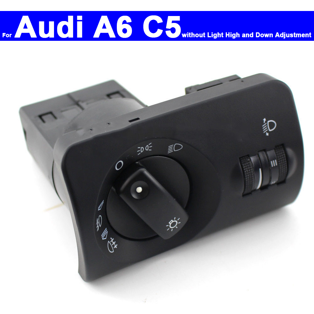Car Headlight Control Head Lamp Control Switch For Audi A6L C6 A6 C5 2005 2006 2007 2008 2009 2010 2011 Auto Fog Light Switch