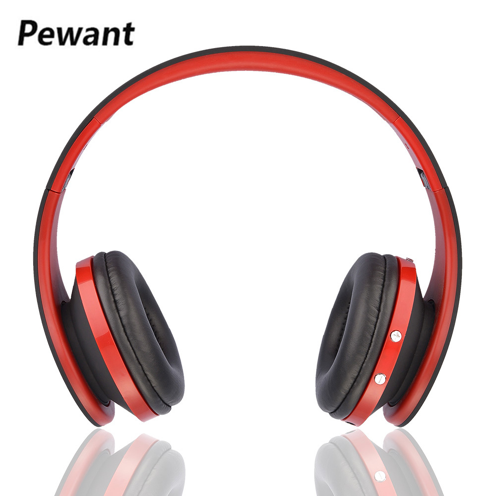 2018 Newest Pewant Headband Bluetooth Headset Wireless Headphones Foldable Stereo Earphone Active Noise Canceling With Mic bluedio f2 active noise canceling bluetooth headset