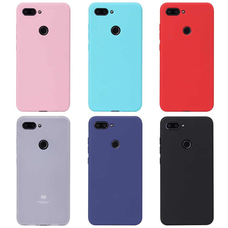 Cukierki kolor miękkie obudowa do Xiaomi mi Max mi x 2 3 Pro 5 5C 5S 6 Plus 8 SE 9 5X 6X A1 A2 Lite grać uwaga 3 przypadki Matte solidna pokrywa