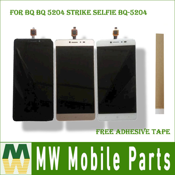 Pour BQ BQ 5204 Grève Selfie BQ-5204 BQ5204 LCD Écran + Écran Tactile Digitizer Assemblée Noir Blanc Or Couleur avec Kit