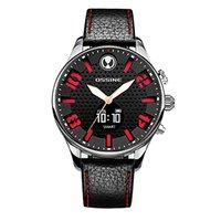 Для мужчин цифровой кварцевые часы наручные часы Поддержка Беспроводной Смарт часы Водонепроницаемый сердечного ритма крови Давление мон