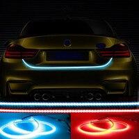 Yan Dönüş Sinyalleri Ile araba LED Trunk Şerit Işık Arka Lambalar Araç Fren işık DRL Gündüz Koşu Işık Blinkers araba-styling