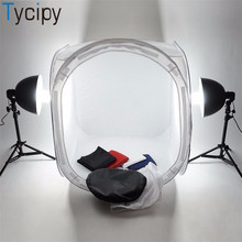Tycipy 80*80*80 см, тент для камеры, софтбокс, Мини Складная фотостудия, коробка, светильник для фотосъемки, тент, набор, светильник для комнаты, для Nikon, Canon, белый цвет