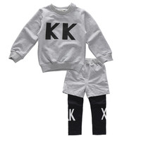 2 colors New Boys Clothes Baby Boy clothing sets Cotton Sweatshirt + Long Sleeve Pants Spring Autumn Toddler Boys Tracksuit