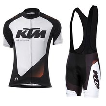 KTM Team Breathable Cycling Jersey Kits Summer Mtb Cycling Clothing Bicycle Short Maillot Ciclismo Sportwear Bike Clothes