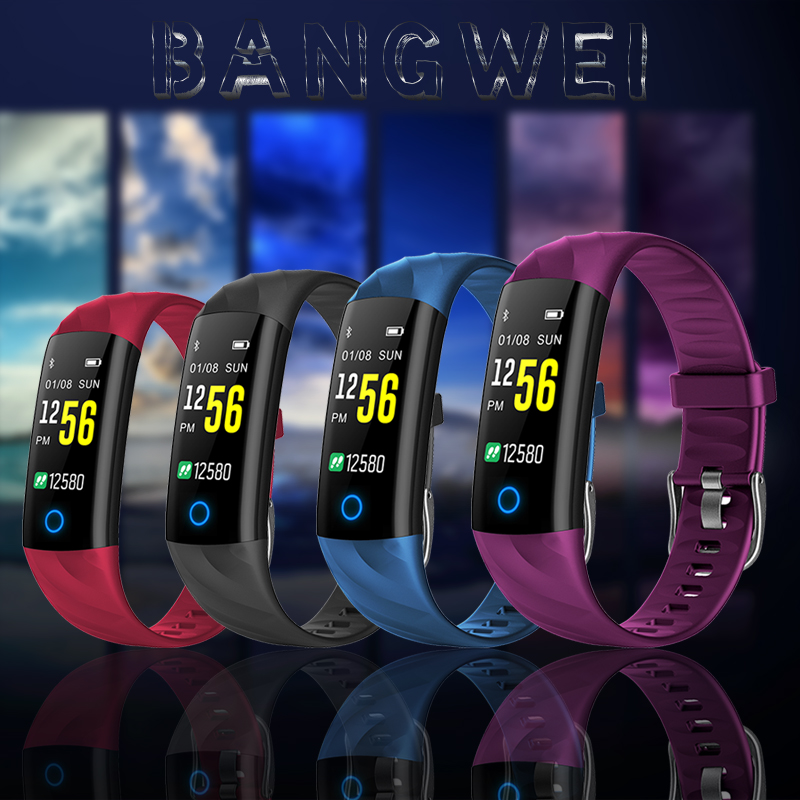 BANGWEI New Smart Men And Women Watches Waterproof Sport Watch Bluetooth Connection Heart Rate Monitor Information Call Reminder