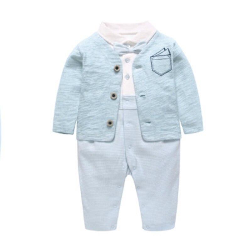 Nouveau-né bébé barboteuses 2019 vêtements pour bébés printemps à manches longues coton combinaisons mignon bébé infantile bleu mode bébé Onesies barboteuse