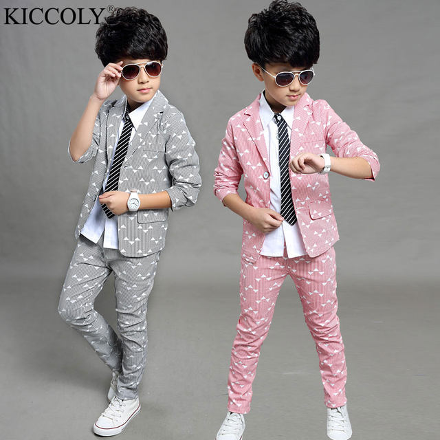 Online Shop Boys Blazers Kids Boys Suits For Weddings Prom Suits ...