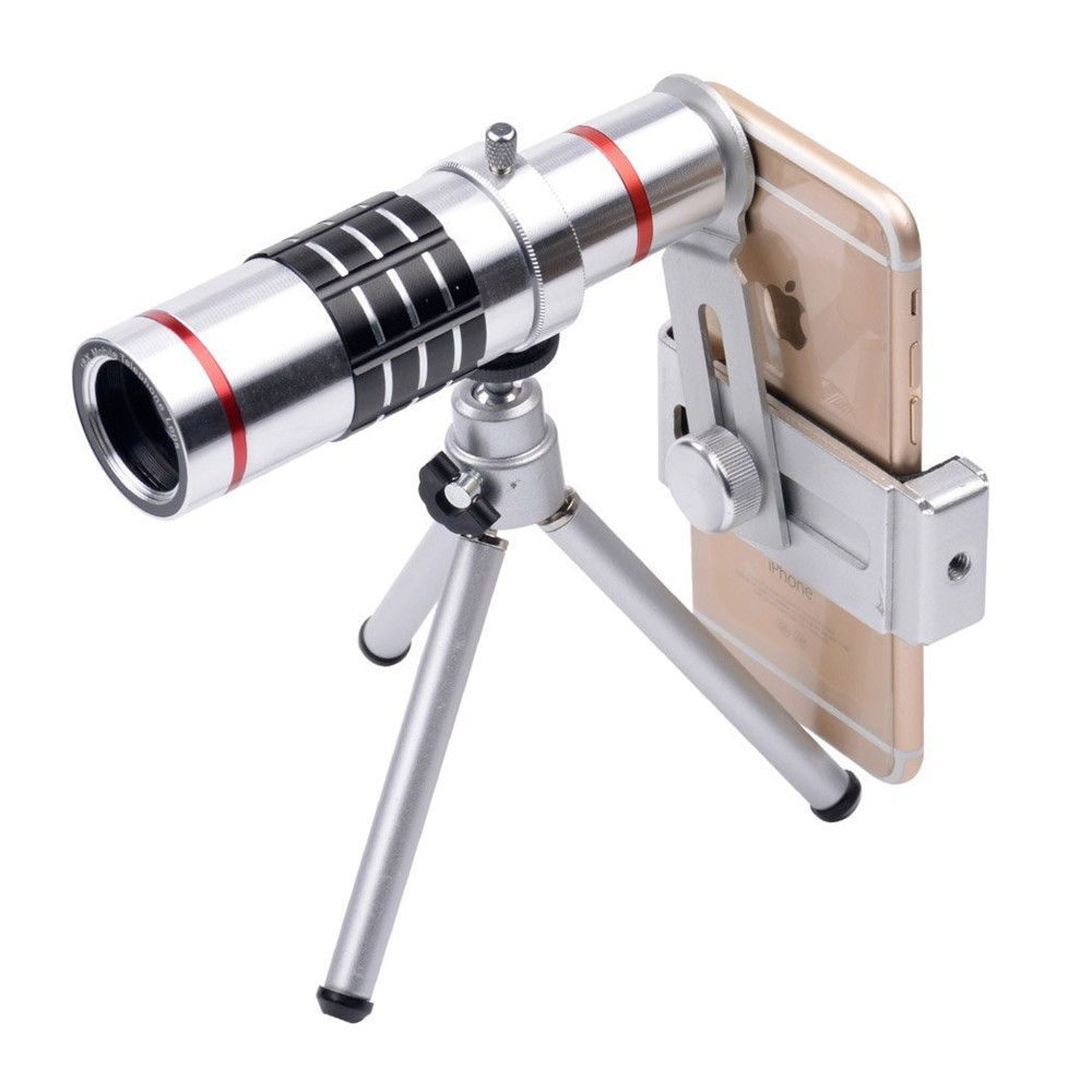 KRY 18x lentes Universal Zoom Camera Phone Lens Optical Telescope Telephoto Lenses Tripod For iPhone 5s lens 6 6s 7 Plus Lens 10