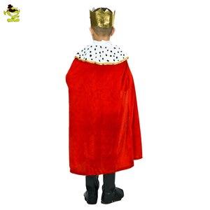 Image 2 - Kids Prins Kostuum Voor Kinderen Halloween Cosplay De Koning Kostuums Kinderen Dag Cosplay Purim Carnaval