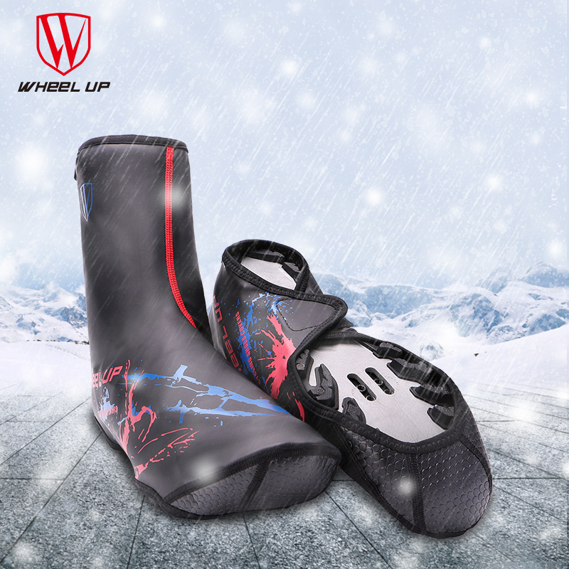 Wheel Up 2017 New Winter Waterproof PU Fleece Lining Cycling Shoe Cover Thermal Fundas Riding Equipment MTB Road Bike Overshoes