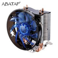 CPU Cooler Pure Copper Double Heat Pipe CPU Radiator Brass Tower CPU Fan Cooling System For