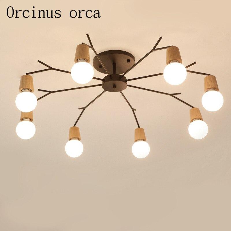 Jmmxiuz New Rectangular Pendant Lights Modern Lamp Ac110v: LED Chandelier Living Room Nordic Personalized Atmospheric