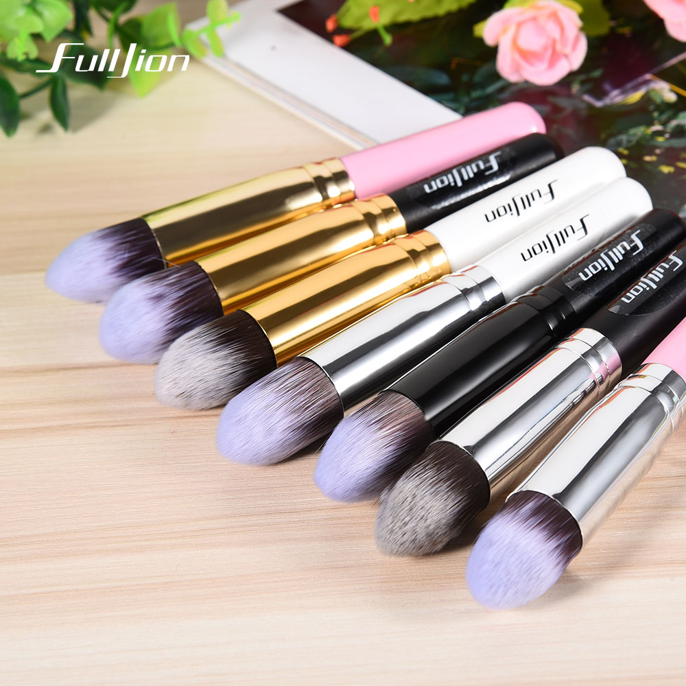 Fulljion 1pcs Multi-function Foundation Brush Wood Handle Blush Powder Brush Synthetic Hair Makeup Brushes 7 Colors To Choose fulljion 1pcs oblique head blush brush multi function foundation powder makeup brushes cosmetics tools wood handle 7 colors