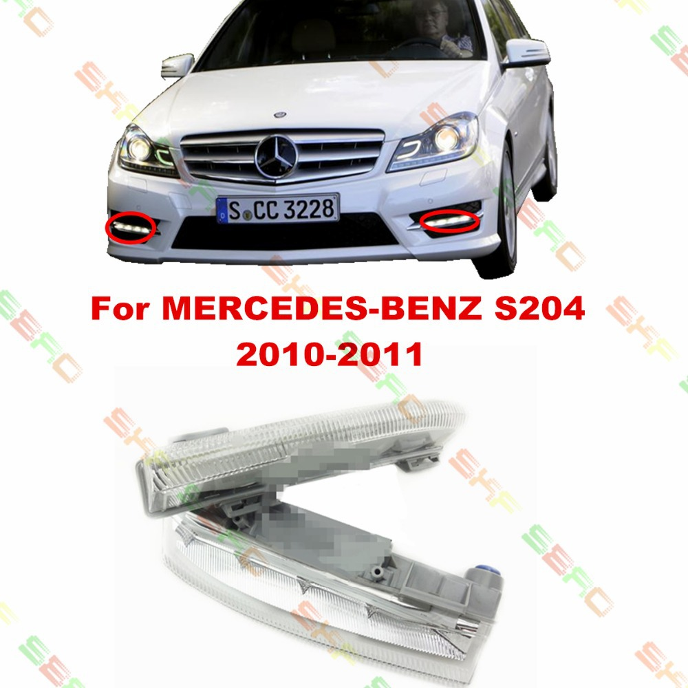 For MERCEDES-BENZ C-CLASS T-Model S204  2010-2011  car styling fog light LAMPS DRL  led Daytime running lights  1 SET for mercedes benz w163 1998 99 2000 01 02 03 04 05 car styling fog lights 1 set