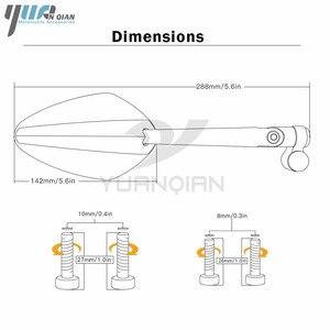 Image 2 - YUANQIAN Honda CBR 600 RC51 CB600F CBR250R MSX125 PCX 125 150 NC750 CB600 Evrensel Yan Ayna Scooter Dikiz Aynası