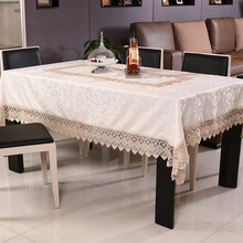 European Table Cloth Noble Lace Tablecloths For Weddings Hollow Toalha De  Mesa Transparent Tablecloth Mantel Fabric Retangular