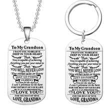 Military Dog Tags To My Grandson Granddaughter Never Forget How Much Love You Grandma Granddad Birthday Graduation Gift
