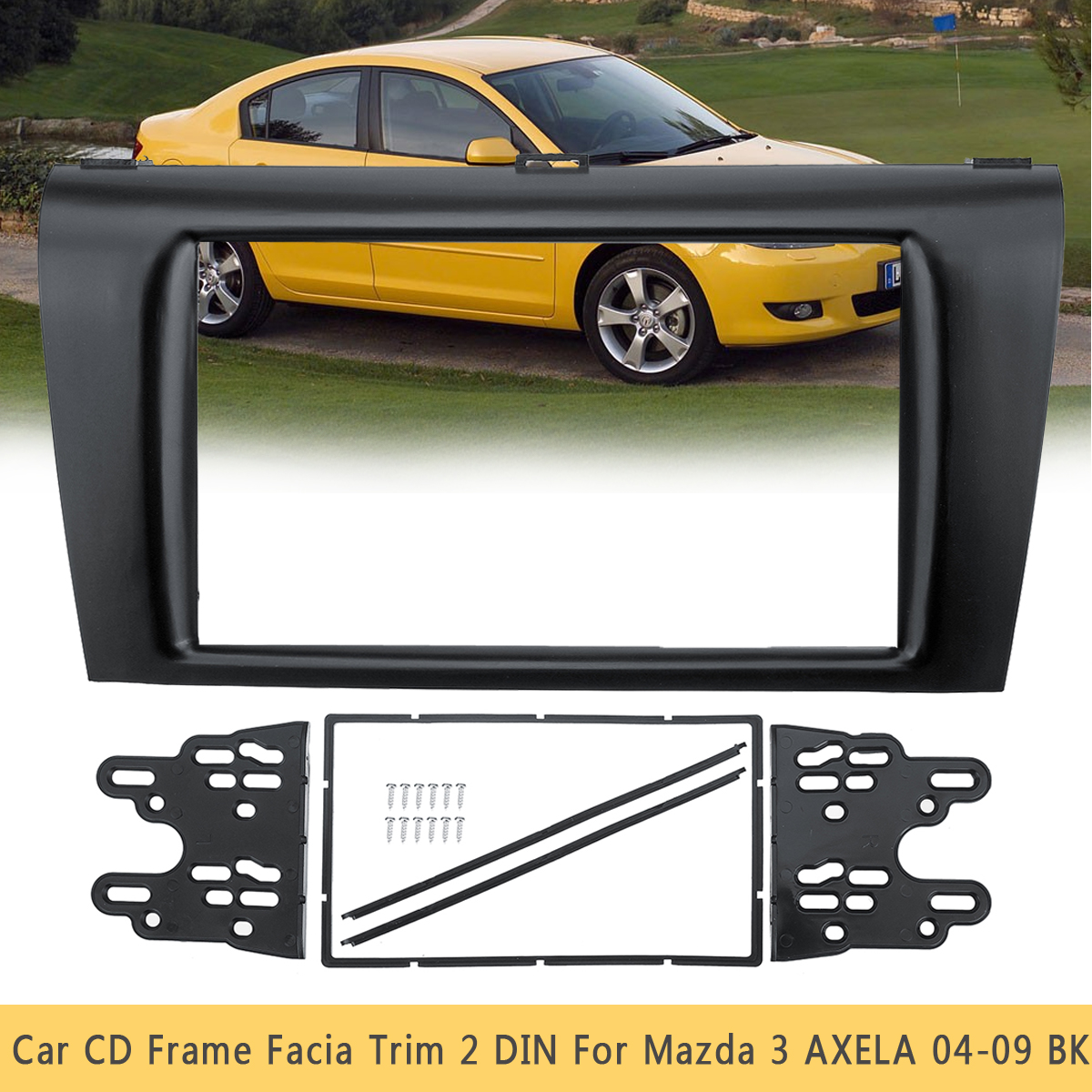 1 set Car Stereo <font><b>Radio</b></font> DVD CD Fascia Panel Panels Plate Trim Kit Frame 2 DIN For <font><b>Mazda</b></font> <font><b>3</b></font> AXELA 2004 2005 <font><b>2006</b></font> 2007 2008 2009 image