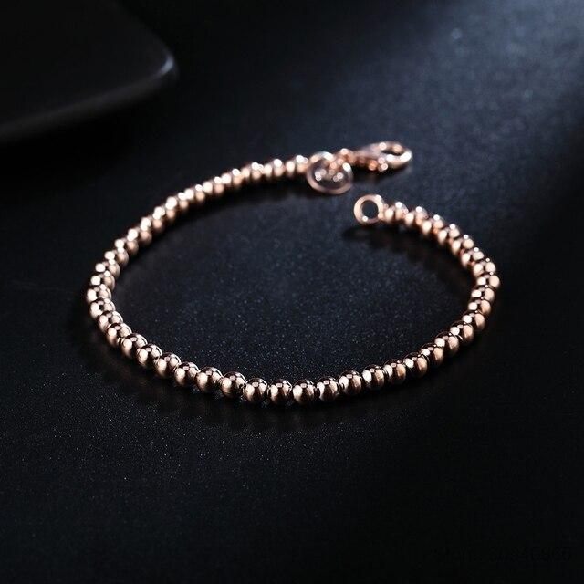LEKANI Sterling Silver Beads Chain Bracelet  3