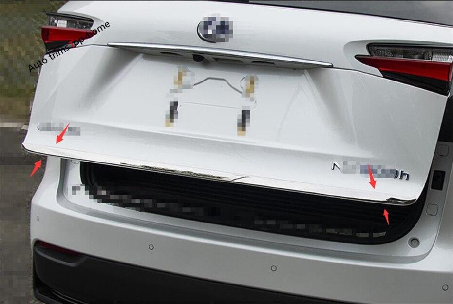Yimaautotrims Exterior Traseiro Tronco Tailgate Lid Streamer Moldagem Porta Tira Guarnição Cobertura Para LEXUS NX200T NX300H NX 2015 2016 2017