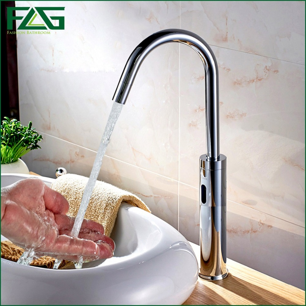 FLG Sensor Operated Electronic Auto Lavatory Hand Washing Inducting Faucet Robinet Automatique Infrarouge Automatic Sensor Tap auto hand soap dispenser with ir sensor auto sensor touchless hand free sanitizer hand washing liquid bottle
