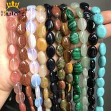 10*14mm Oval Shape Stone Beads Natural Tiger Eye/Opal/Agat/Jades/Malachite Loose Beads For Jewelry Making DIY Bracelet Necklace natural stone chrysocolla approx 14x16mm oval shape loose beads approx 39cm diy jewelry making bracelet necklace