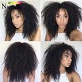 Niceligt Hair KBL Brazilian Afro Kinky Curly Virgin Hair Meches Bresilienne Lots 4 Brazilian Curly Virgin Hair Afro Curly 1b