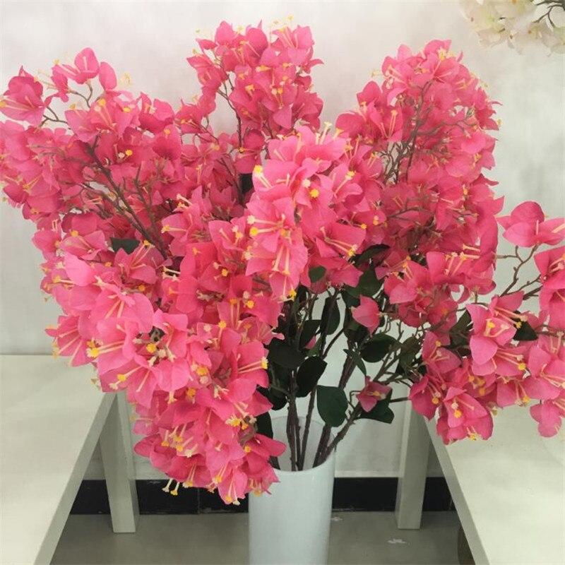 Fake Single Bougainvilleas Simulation Bougainvillea Speetabilis for Wedding Home Showcase Party Decorative Artificial Flowers