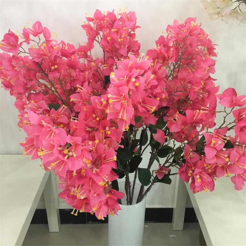 Fake Single Bougainvilleas Simulation Bougainvillea Speetabilis for Wedding Home Showcase Party Decorative Artificial Flowers-in Artificial & Dried Flowers from Home & Garden    1