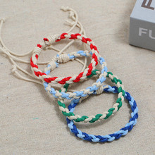 New Hot Sell Color Couple Hand Rope Ethnic Style Hand-Knitted Simple Men And Women Small Fresh Bracelet Jewelry Gift