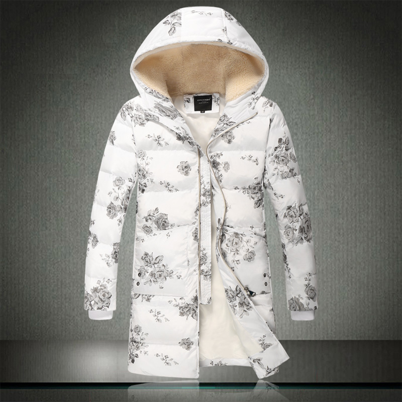 Winter thickening cotton-padded clothes hooded han edition cultivate one's morality men long cotton-padded jacket youth leisure