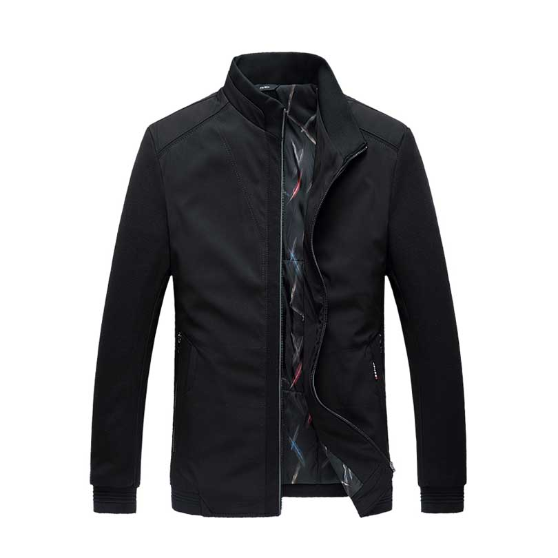 Buy Autumn Winter Mens Jacket Stand Collar Korean Style Outerwear Business Casual Male jacket Coat Winter Warm Overcoat 5XL 6XL