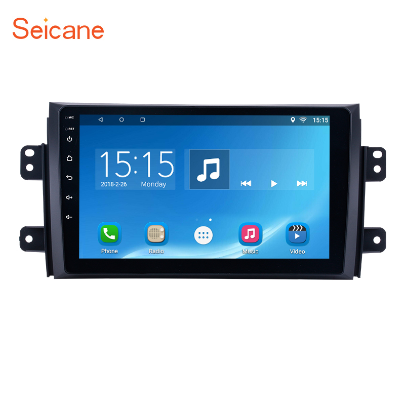 Seicane Android 6.0 2Din 9 full Touchscreen Car Radio Bluetooth GPS Head Unit for 2006-2012 Suzuki SX4 support OBD2 Mirror Link